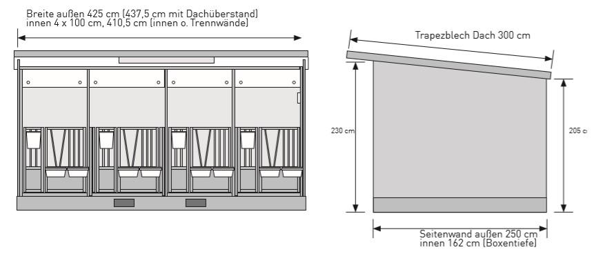 abmessung quattro kaelberbox